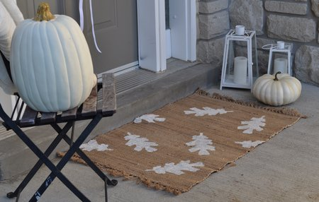 DIY Leaf Fall Doormat