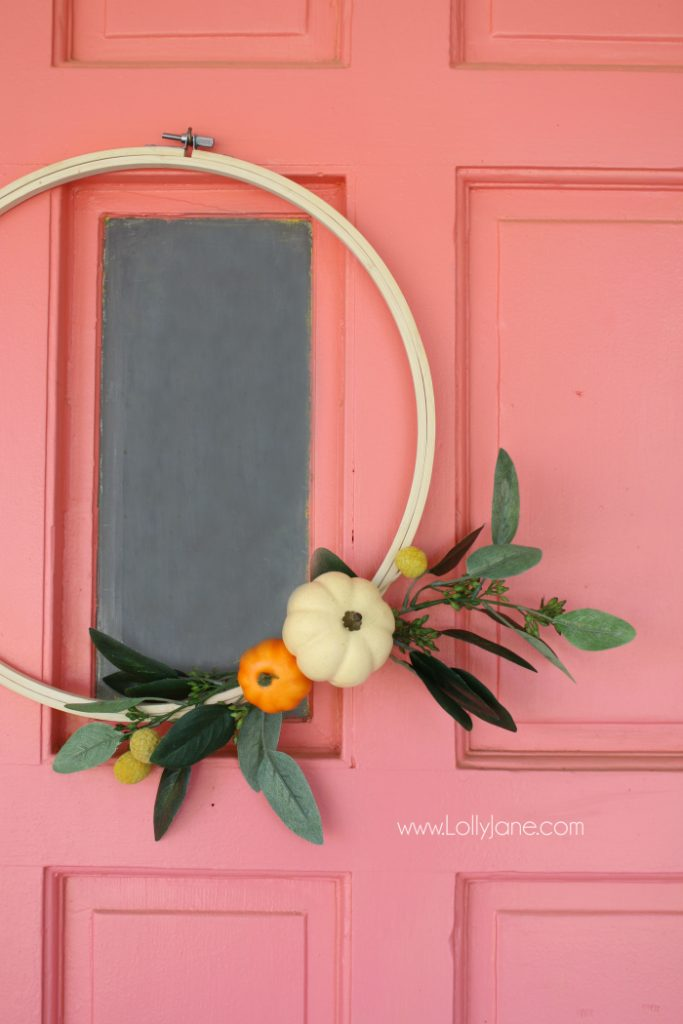 Pumpkin Hoop Art Fall Wreath