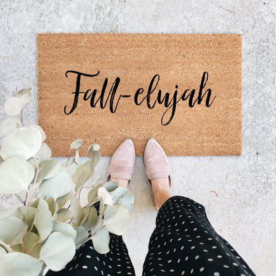 Fall-elujah Doormat