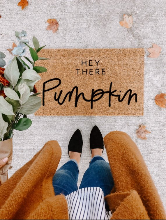 Hey There, Pumpkin Fall Doormat
