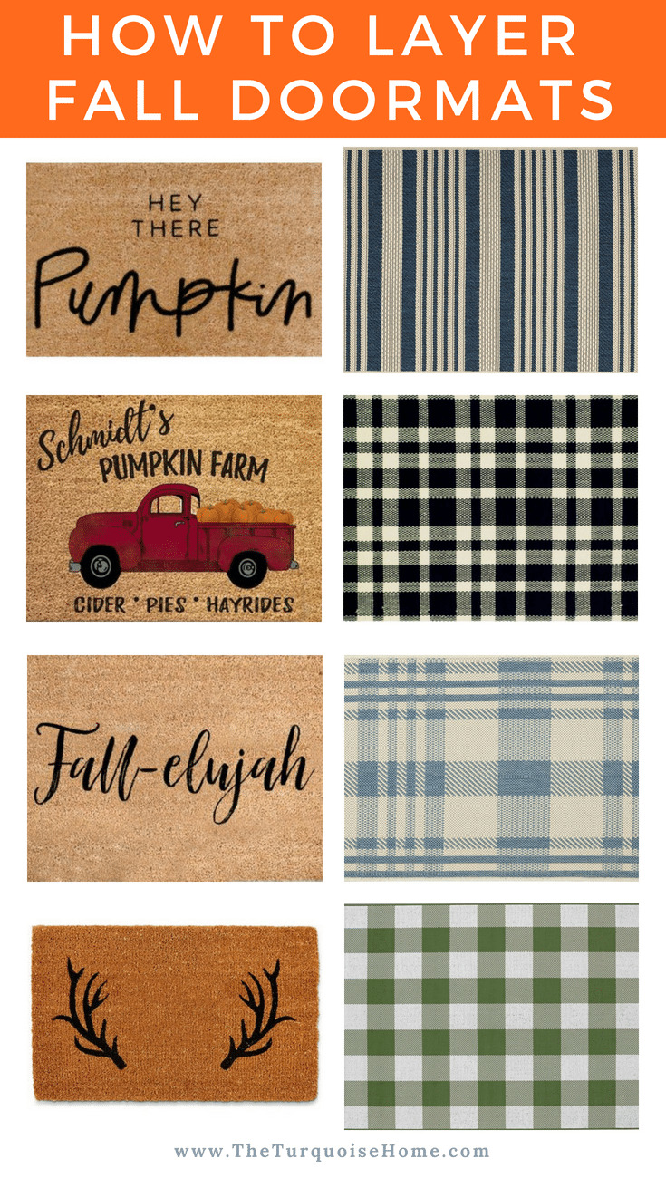 How to get the layered doormat look! Fall doormat combinations sure to ramp up the autumn curb appeal!