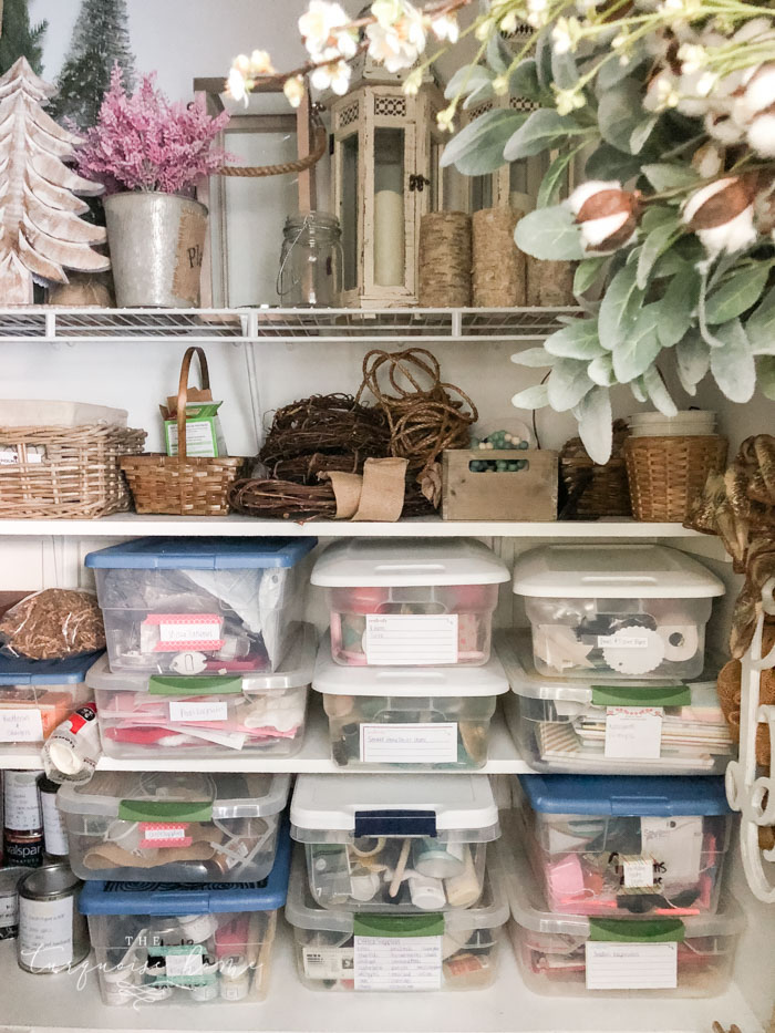 How to Store your Seasonal Decor with ease in a closet!