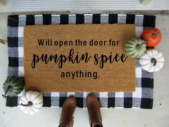 Pumpkin Spice Anything Fall Doormat