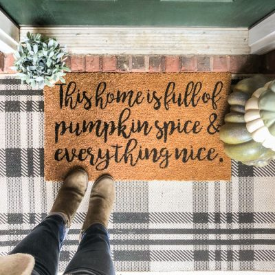 Full of Pumpkin Spice Fall Doormat