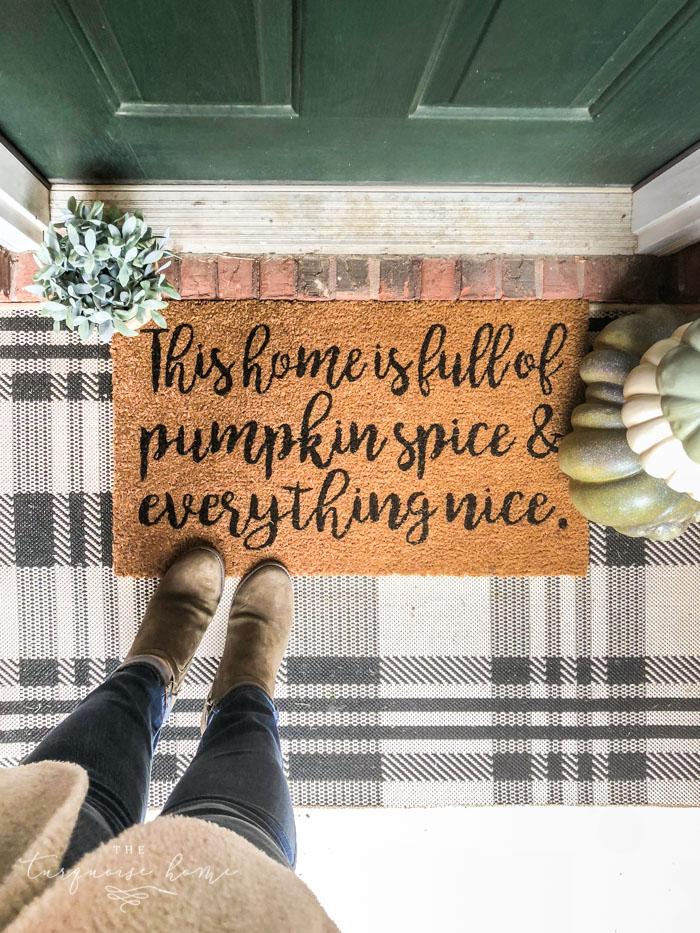 Full of Pumpkin Spice Fall Doormat