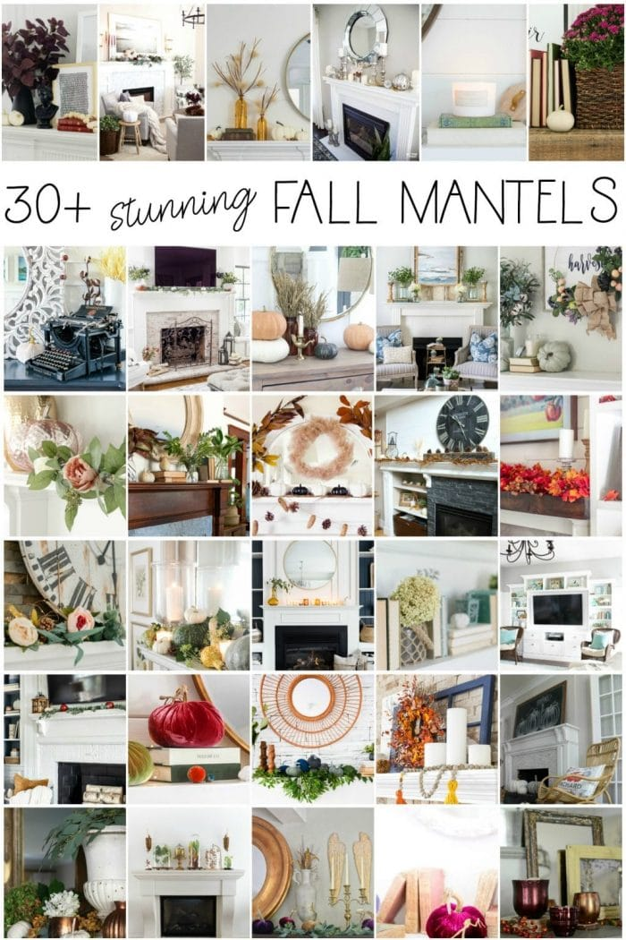 30+ Absolutely Stunning Fall Mantel and Fall Vignette Ideas!