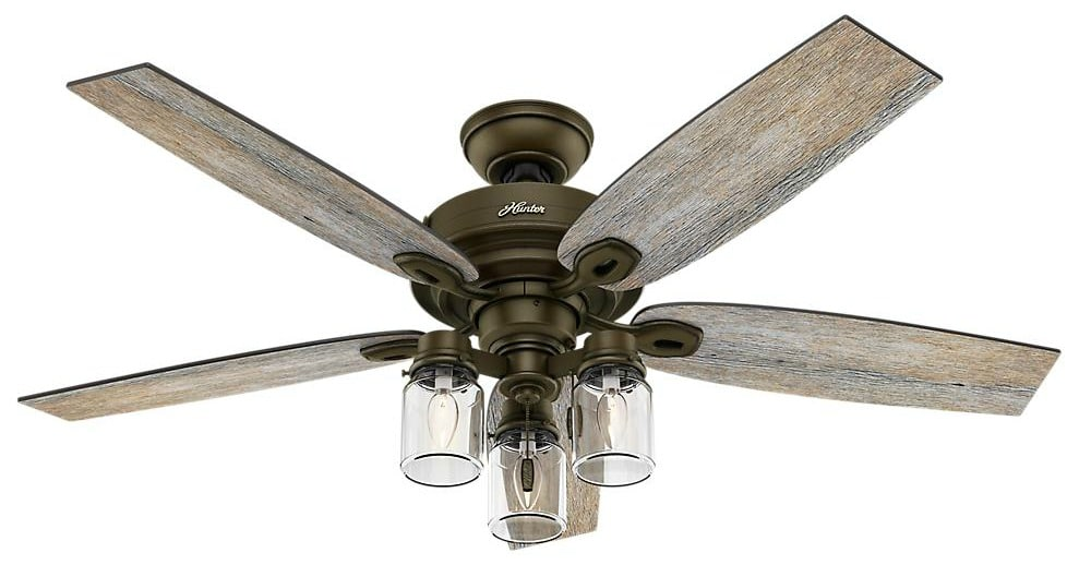 Crown Canyon Hunter 52 inch Farmhouse Ceiling Fan