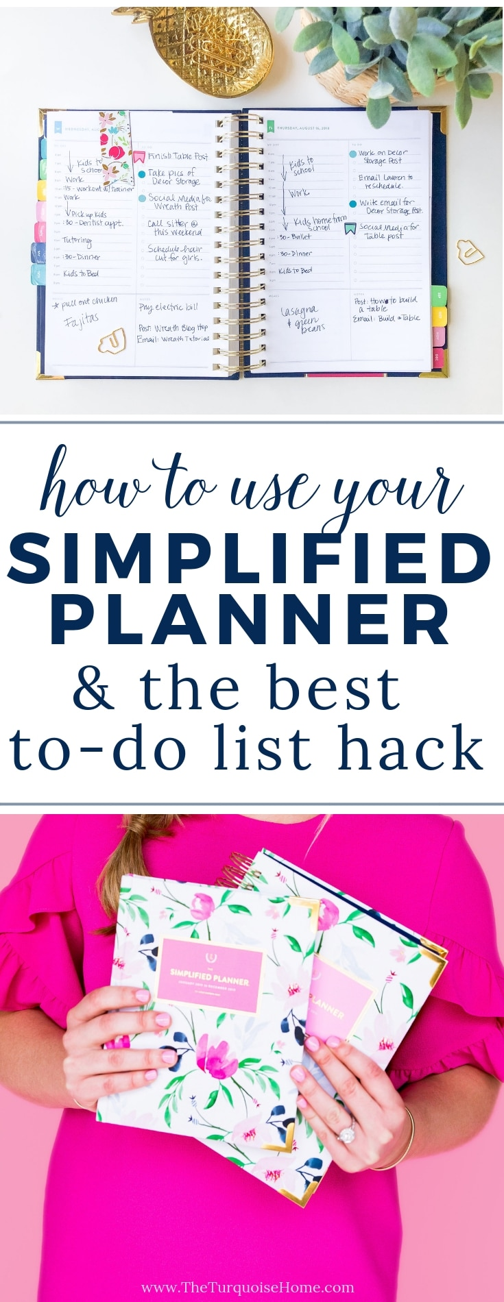 photo relating to Simplified Planner referred to as How I Seek the services of My Emily Ley Simplified Planner and Favourite Hack