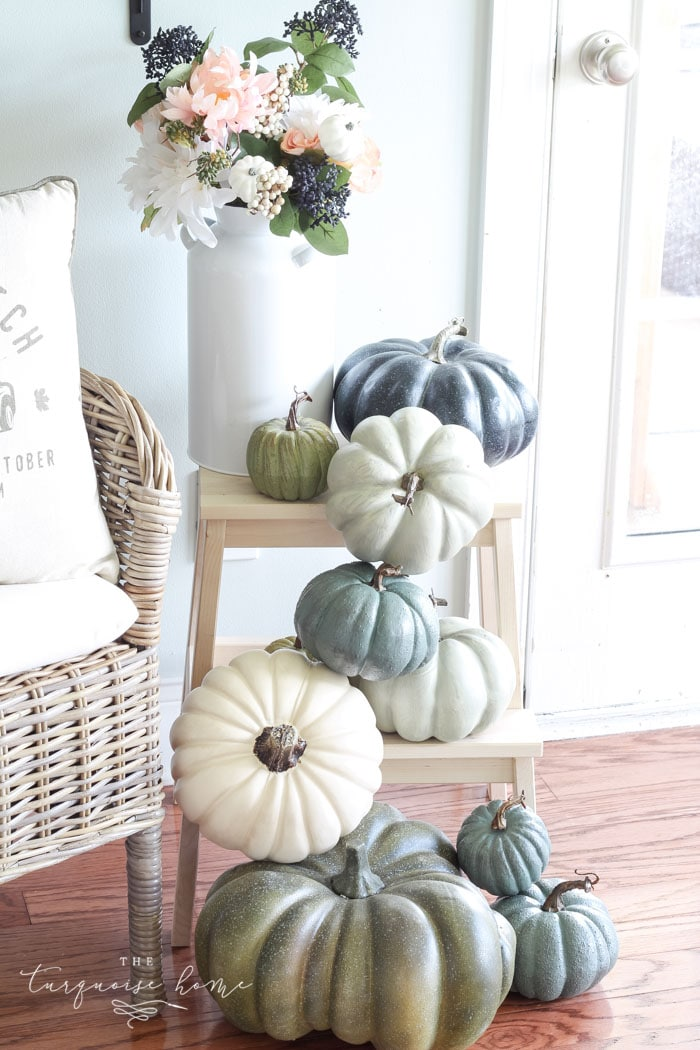 Cascading pumpkins in the kitchen!