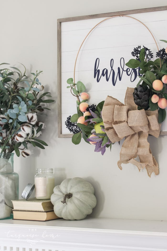 Harvest Fall Mantel Decor - home tour!