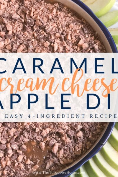 Cream Cheese Caramel Apple Dip - perfect for fall tailgating!