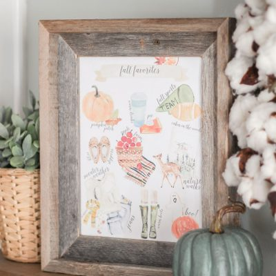 Fall Favorites Free Printable