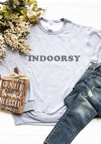 Indoorsy Sweatshirt | Fall Must-Haves for the Homebody