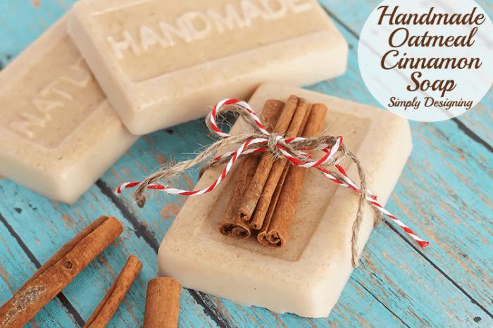 Homemade Oatmeal Cinnamon Soap | 25 DIY Christmas Gift Ideas