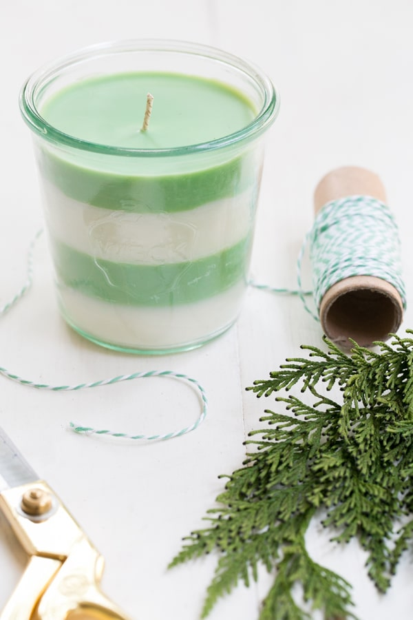 DIY Christmas Gifts: Pine Soy Candles