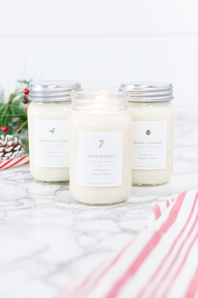 Christmas Candles Bundle of Three from Antique Candle Co.