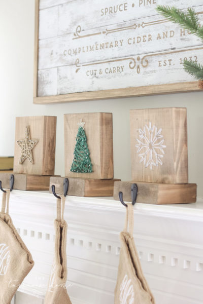 DIY String Art Christmas Stockings - super cute and easy DIY craft for Christmas!