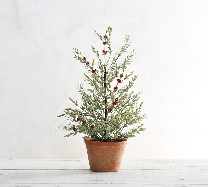 The Best Host and Hostess Gift Ideas - faux sage topiary with berries
