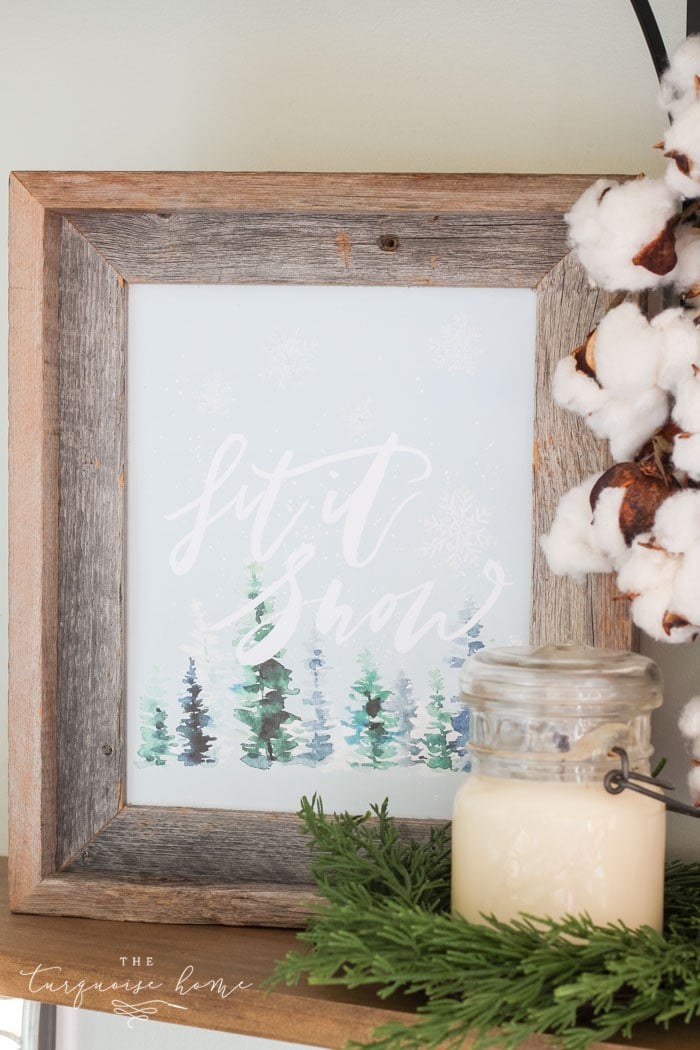 Free Christmas Printables - Let it Snow