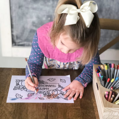 Free Thanksgiving Coloring Pages (for kids and adults alike!)