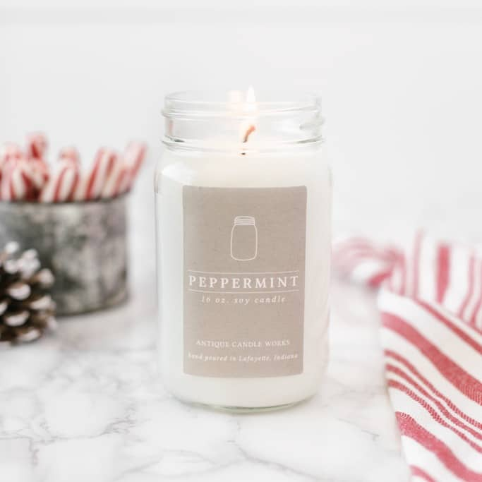 Host and Hostess Gift Ideas under $40! - Yummy Peppermint Candle