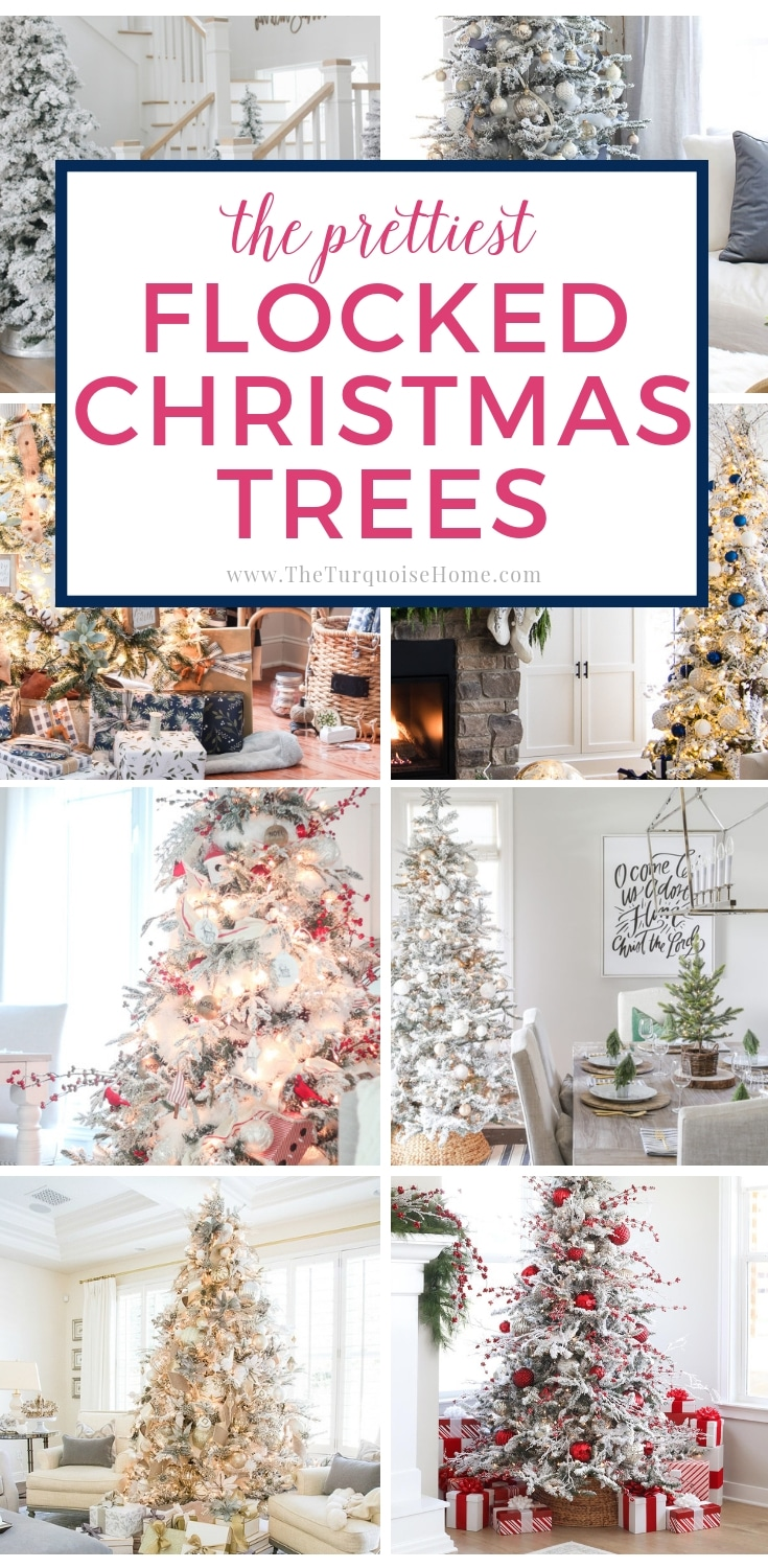 The Prettiest Flocked Christmas Trees - lots of gorgeous inspiration!