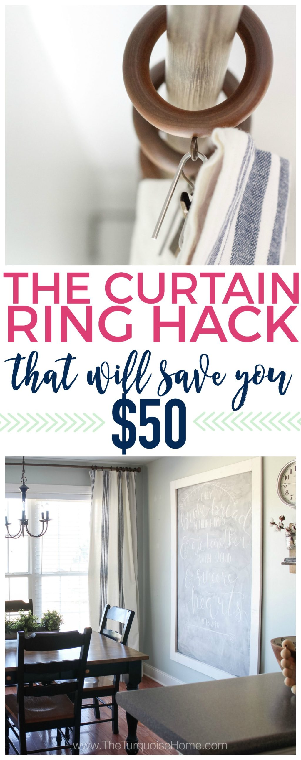 The Curtain Ring Hack that will save you money!