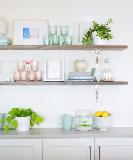 DIY Open Farmhouse Shelving