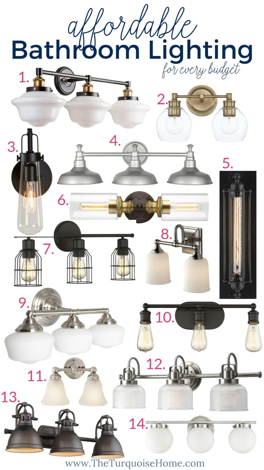 Affordable Bathroom Lighting for every budget!