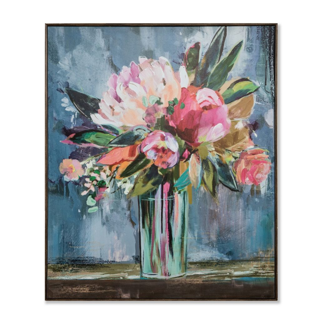 Floral Canvas Art for the Girls' Bathroom Refresh
