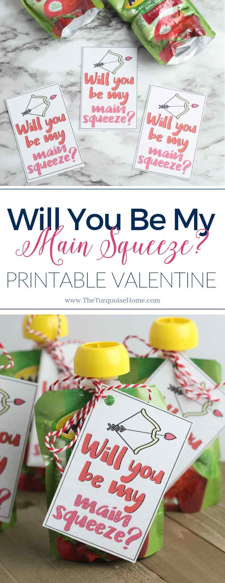Will you be my Main Squeeze? Printable Valentine (for kids!)
