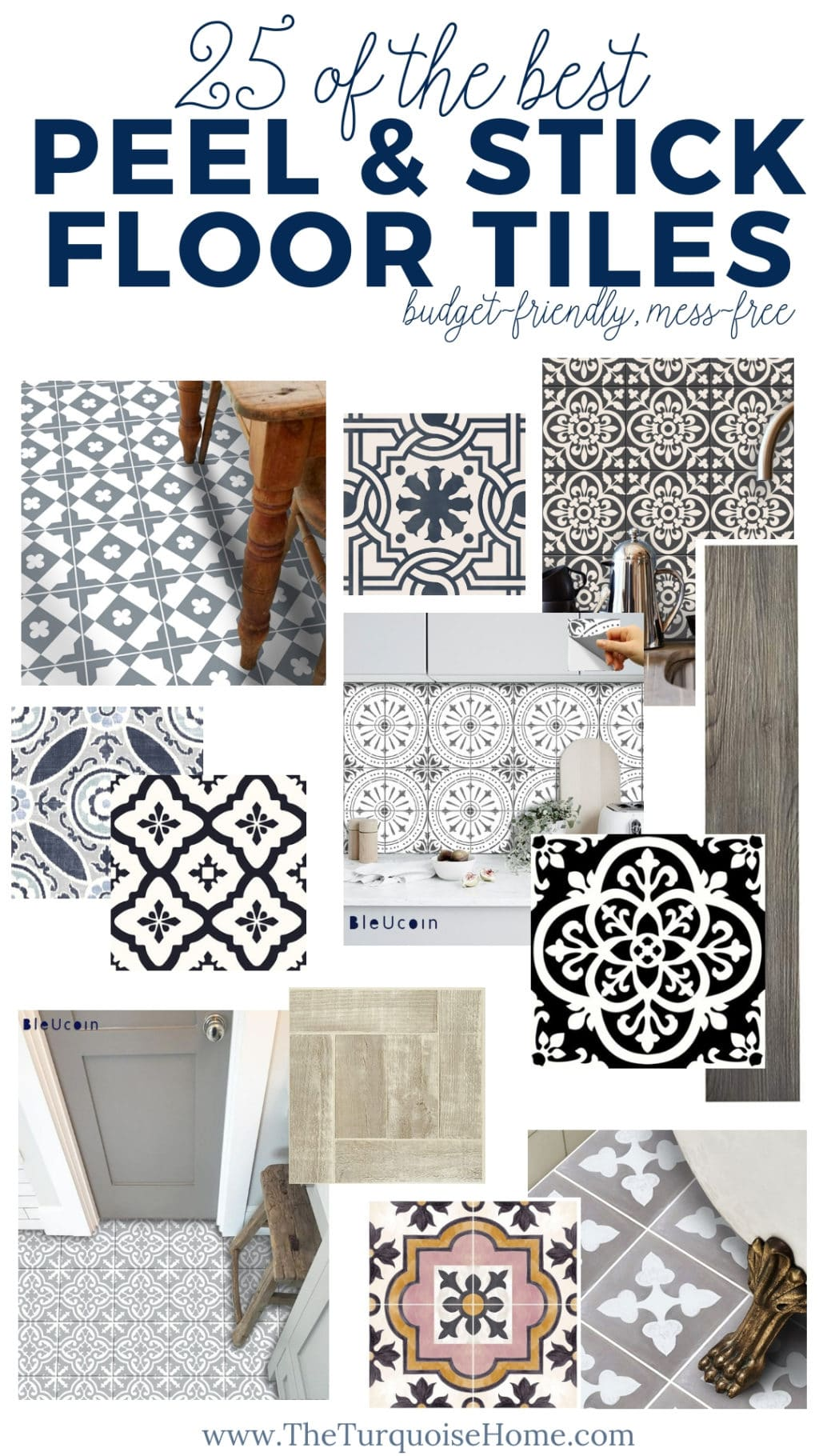 The Best Peel and Stick Floor Tile Ideas  The Turquoise Home