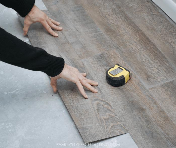 Family Style Schooling blog: DIY Peel and Stick Flooring