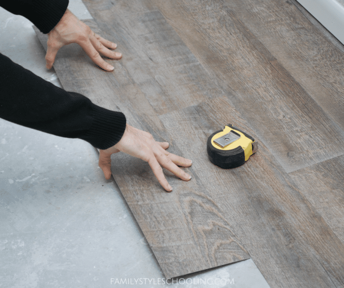 Family Style Schooling blog: DIY Peel and Stick Flooring