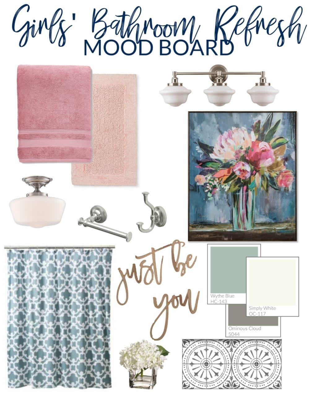 Girls' Bathroom Refresh Mood Board-2
