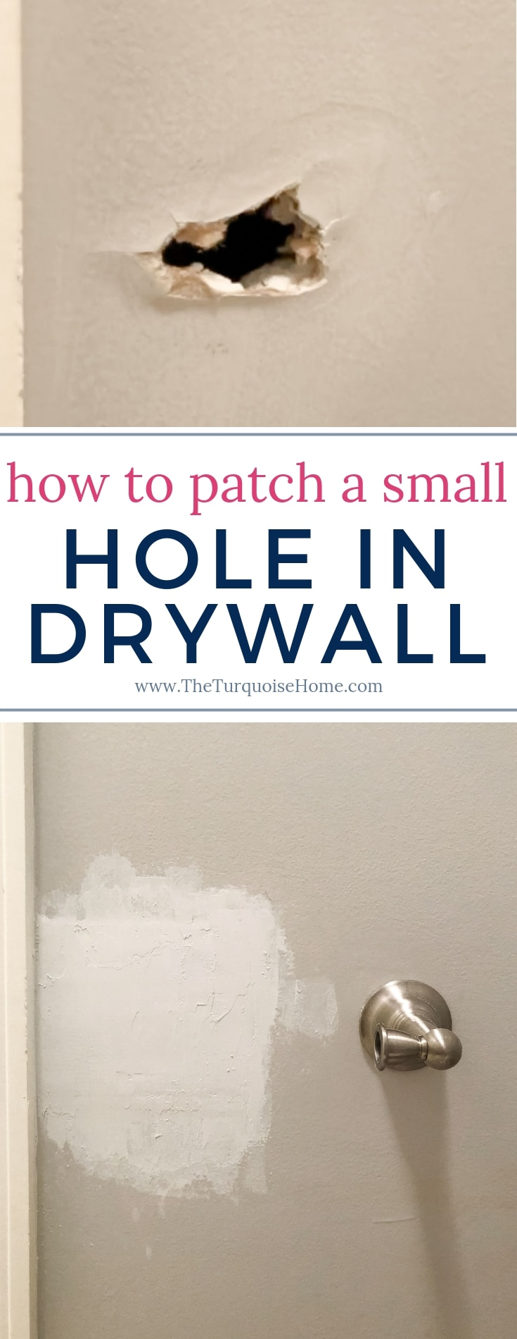 How to Patch a Small Hole in Drywall >> with a drywall repair kit