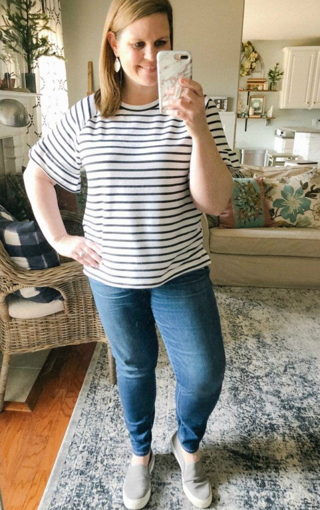 Put together top that feels like a sweatshirt! Love how cozy it is!