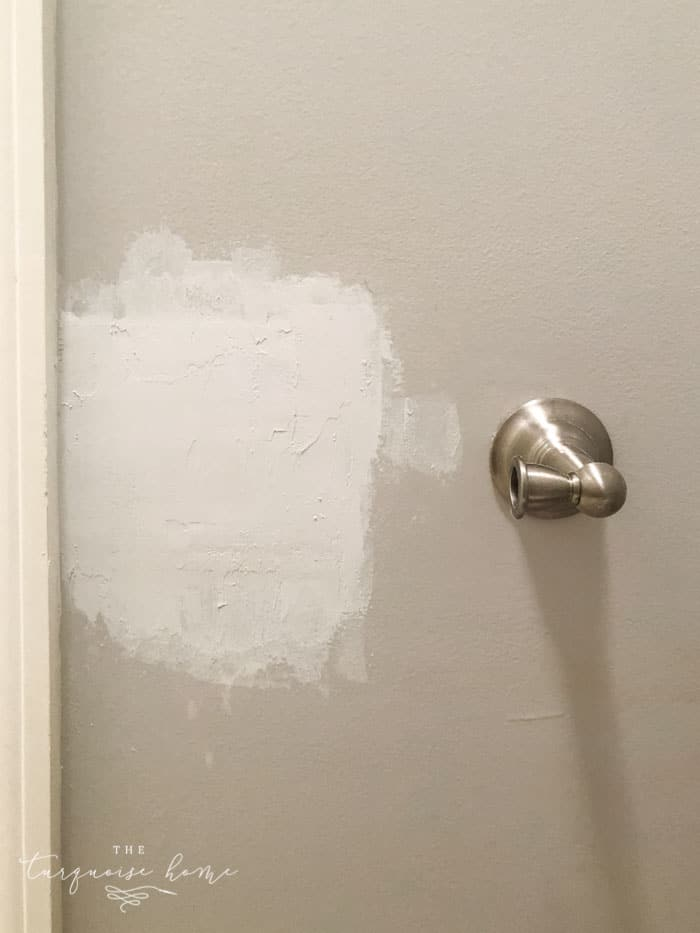 How to Patch a Hole in Drywall | Fill in the hole with spackling a few times