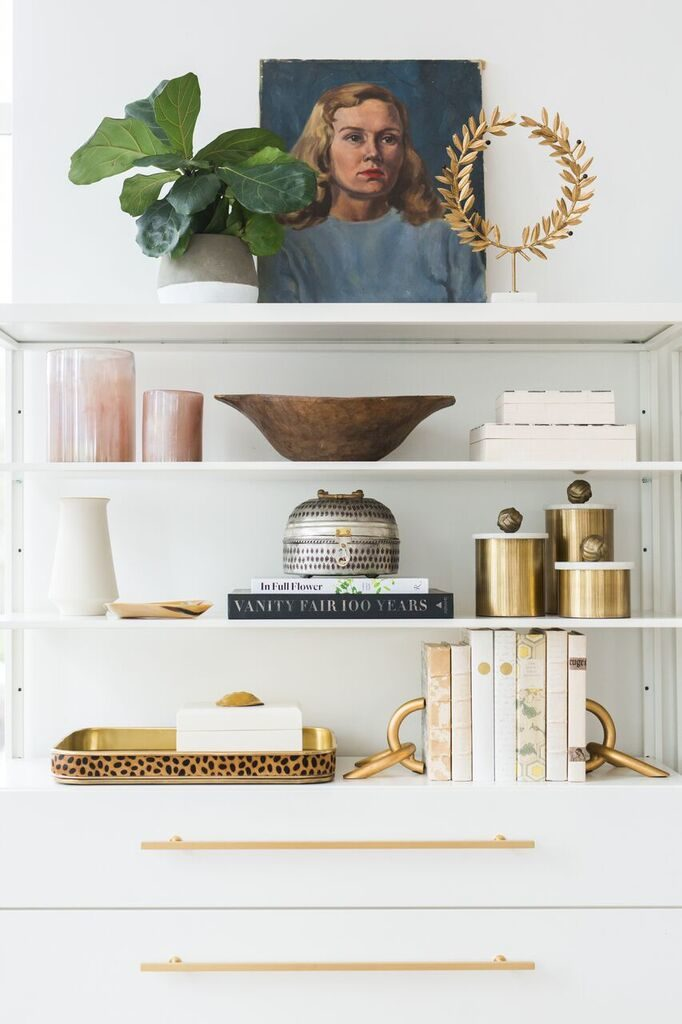 Art and Decorating Bookshelves - from Studio McGee
