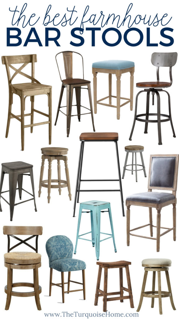 The BEST Farmhouse Bar Stools that you'll love!