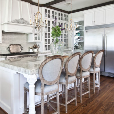 Gorgeous Kitchen with Farmhouse Bar Stools from Anita at Cedarhill Farmhouse