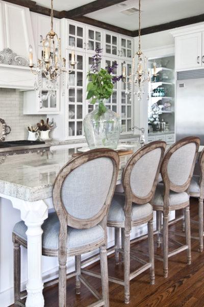 Gorgeous Kitchen with Farmhouse Bar Stools from Anita at Cedarhill Farmhouse