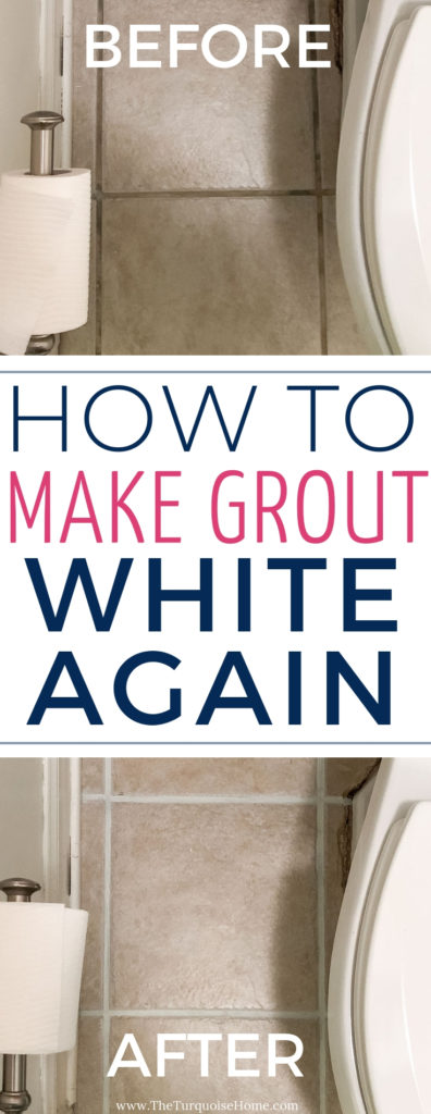 How to use grout paint and make grout white again! It's a simple & easy process!