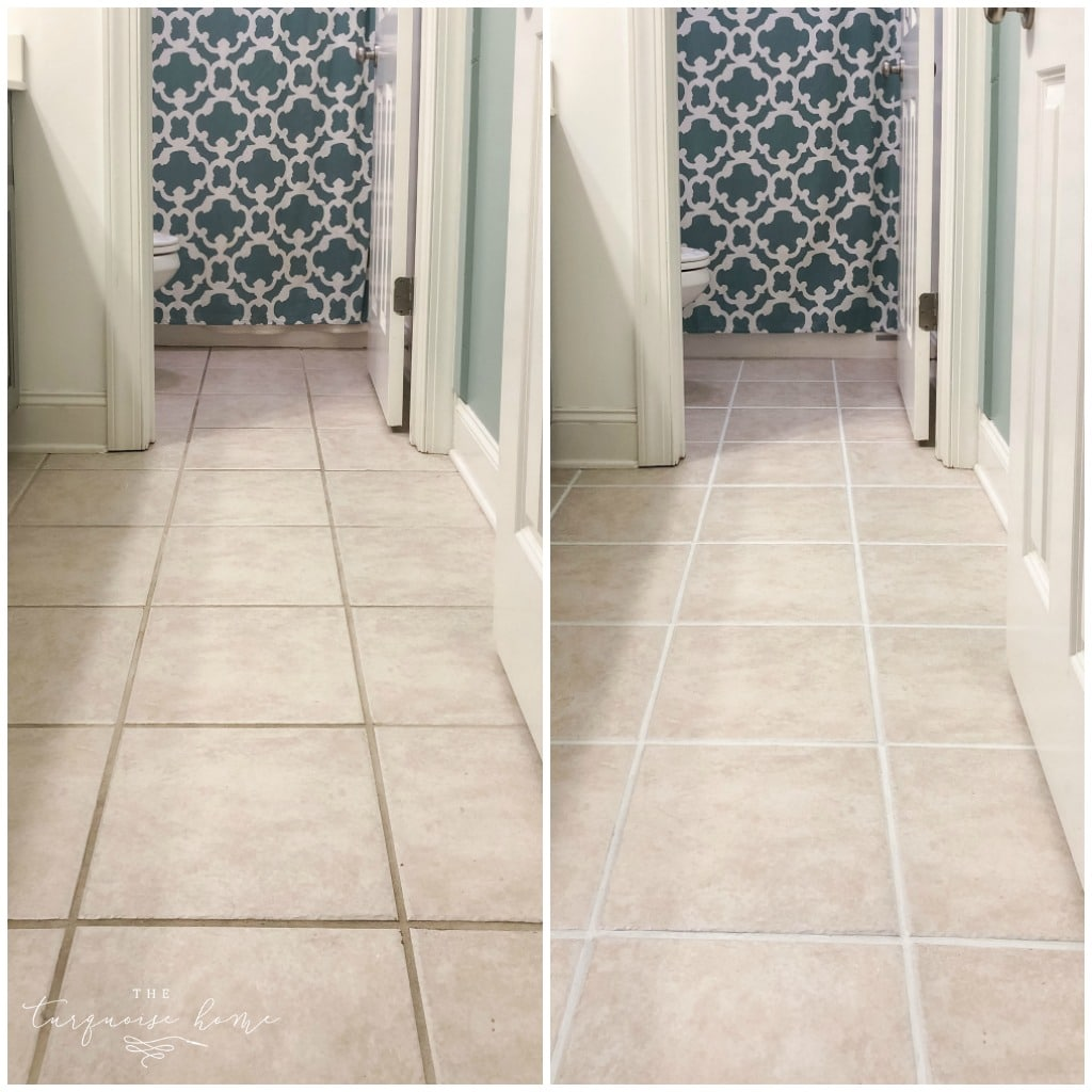 How to Make Your Grout White Again - or any color for that matter! - BEFORE and AFTER!