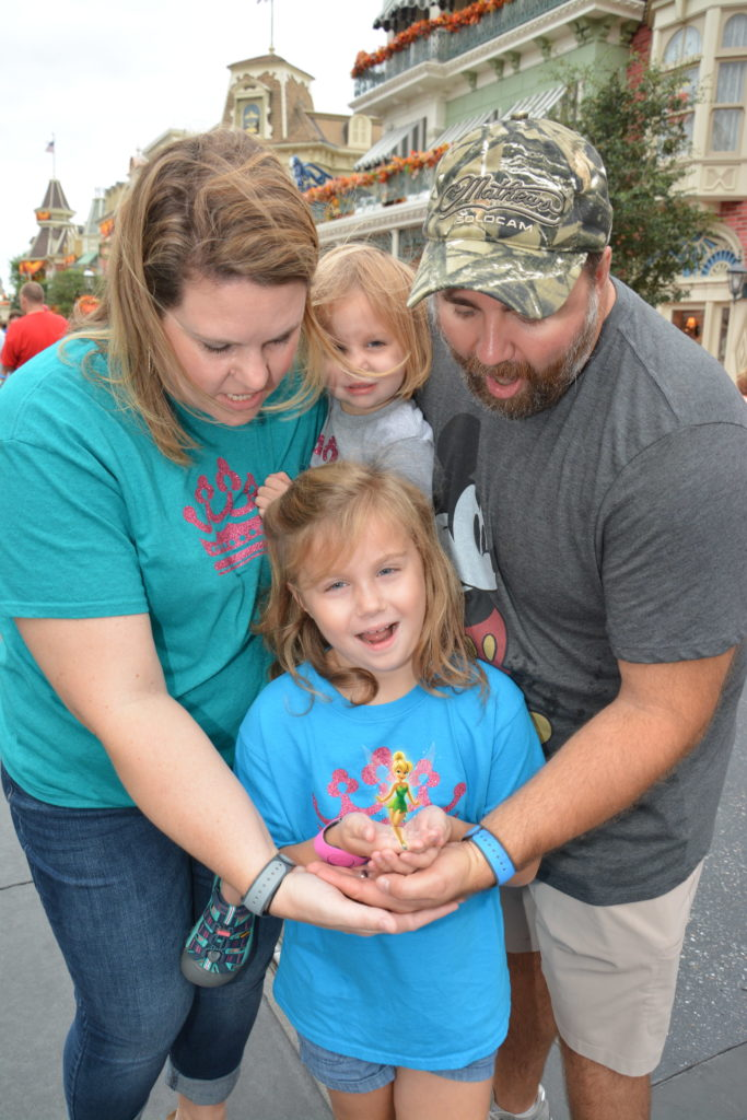 Disney Magic with Tinkerbell at Magic Kingdom