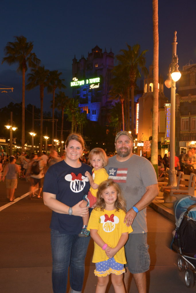 Hollywood Studios in front of the Tower of Terror