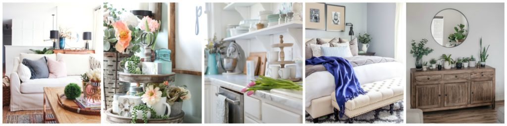 Seasonal Simplicity Spring Home Tour Series Monday collage