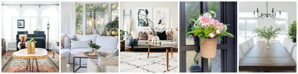 Seasonal Simplicity Spring Home Tour Series Thursday collage