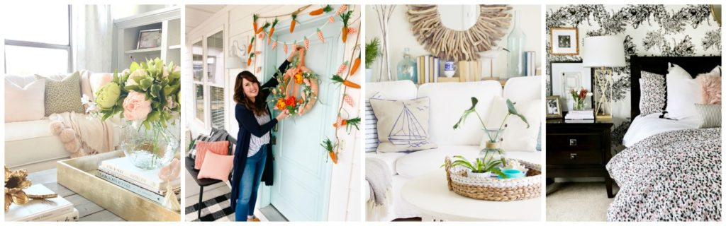 Seasonal Simplicity Spring Home Tour Series Wednesday collage