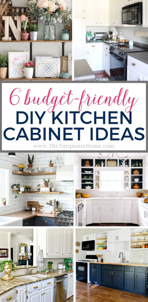 Budget-Friendly DIY Kitchen Cabinet Ideas | The Turquoise Home